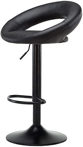HZYDD Taburete de bar, taburete elevador, silla de bar, escritorio, ocio, recepción, silla de bar, silla de bar de 360 °, giratoria, color negro