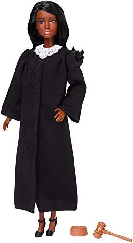 Barbie - Quiero Ser Jueza Muñeca morena con accesorios, Juguetes +3 años (Mattel FXP43)