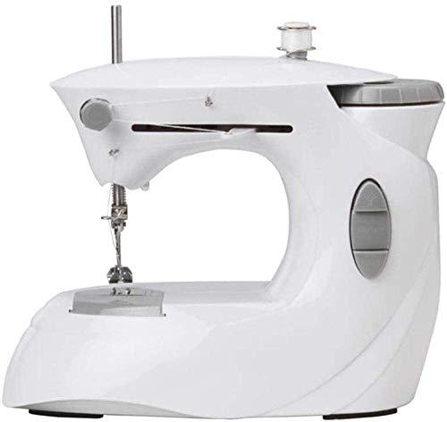Máquinas de coser Máquina de coser portátil, Pequeña máquina de coser, la máquina de hogar mesa eléctrica portátil overlock costura, utilizado como piso, tela, tela de los niños for empezar la máquina
