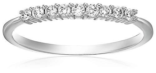 Vir Jewels 1/5 cttw Diamond Wedding Band in 14K White Gold Prong Set Size 8.5