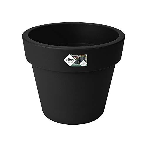 Elho Green Basics Top Planter 47 - Blumentopf - Lebhaft Schwarz - Draußen - Ø 47.1 x H 39.5 cm
