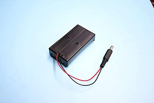 Janedream Owner 10pcs 2X 18650 titular de la batería 7.4V 18650 caja de almacenamiento de batería con enchufe DC 5.52.1mm
