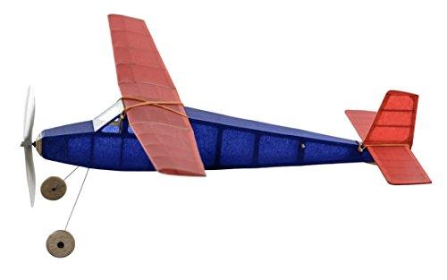 Sparrowhawk kit completo de avión de madera de balsa de caucho modelo vintage que realmente vuela!