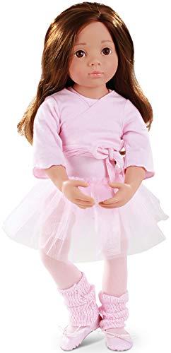 Götz 1366015 Happy Kidz Sophie geht zum Ballett Puppe - 50 cm große Multigelenk-Stehpuppe, braune Haare, braune Augen - 9-teiliges Set