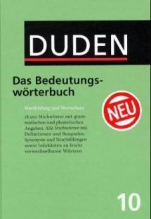 Duden Das Bedeutungswörterbuch 1104 S. 3.Auflage