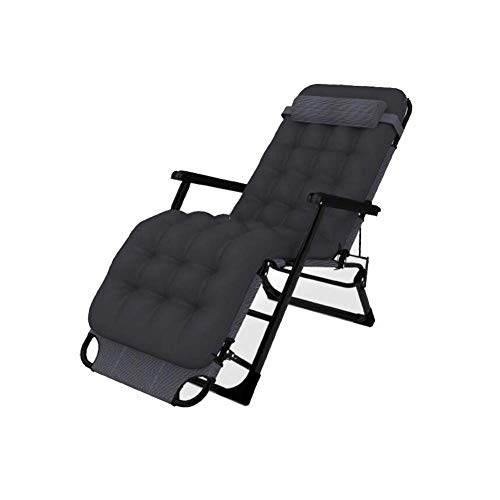 LY88 Sun Lounger Recliner Reclining Folding Daybed Bed Deck Chair Chaise Headrest Garden (color : Including cotton pads)