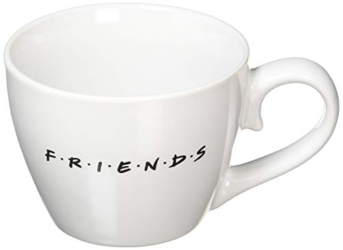 Paladone Central Perk Cappuccino-Tasse, übergroße Keramik-Kaffee- und Teetasse, 296 ml