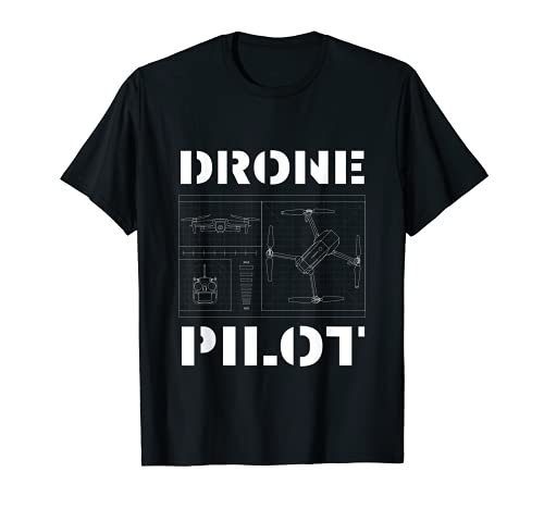Piloto de drones - Fly Drone, Hombre, Drone Lovers Camiseta