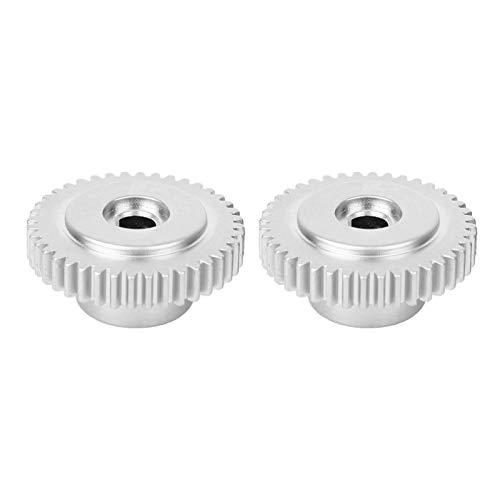 EVTSCAN 2 piezas D-Hole Gear Metal de alta resistencia 40 dientes Piezas de robot industrial 6mm Agujero central