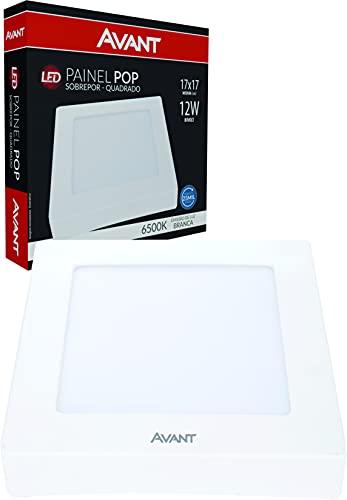 Painel Plaflon LED 12W de Sobrepor Quadrado 17xcm, Bivolt, 6500k Branco Frio, Avant,
