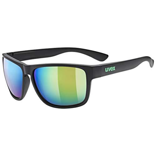 uvex Unisex– Erwachsene, lgl 36 CV Sonnenbrille, black mat/green, one size