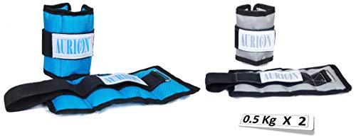 Aurion Wrist Weights 1 Kg x 2 Total 2 kg Home Gym...