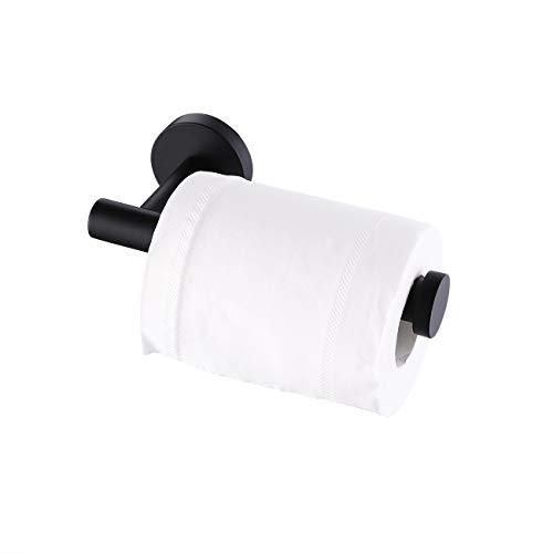 KES Toilet Paper Holder Bathroom Tissue Holder Paper Roll Dispenser SUS 304 Stainless Steel Wall Mount Matt Black, A2175S12-BK