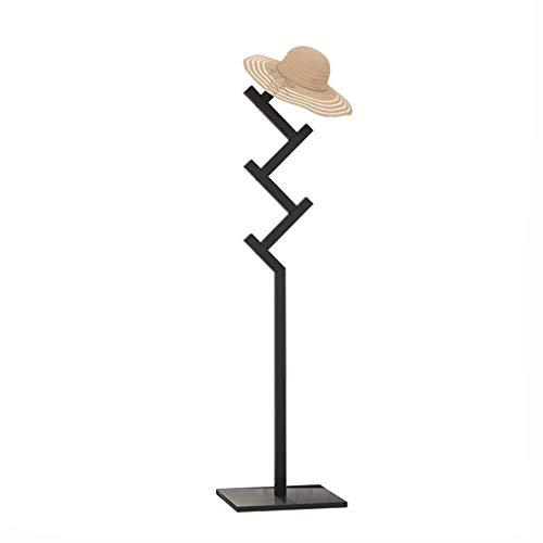 MKVRS Perchero de madera con 6 ganchos, perchero para sombreros con gancho para el vestíbulo, garaje, oficina, dormitorio, armario (color: A)