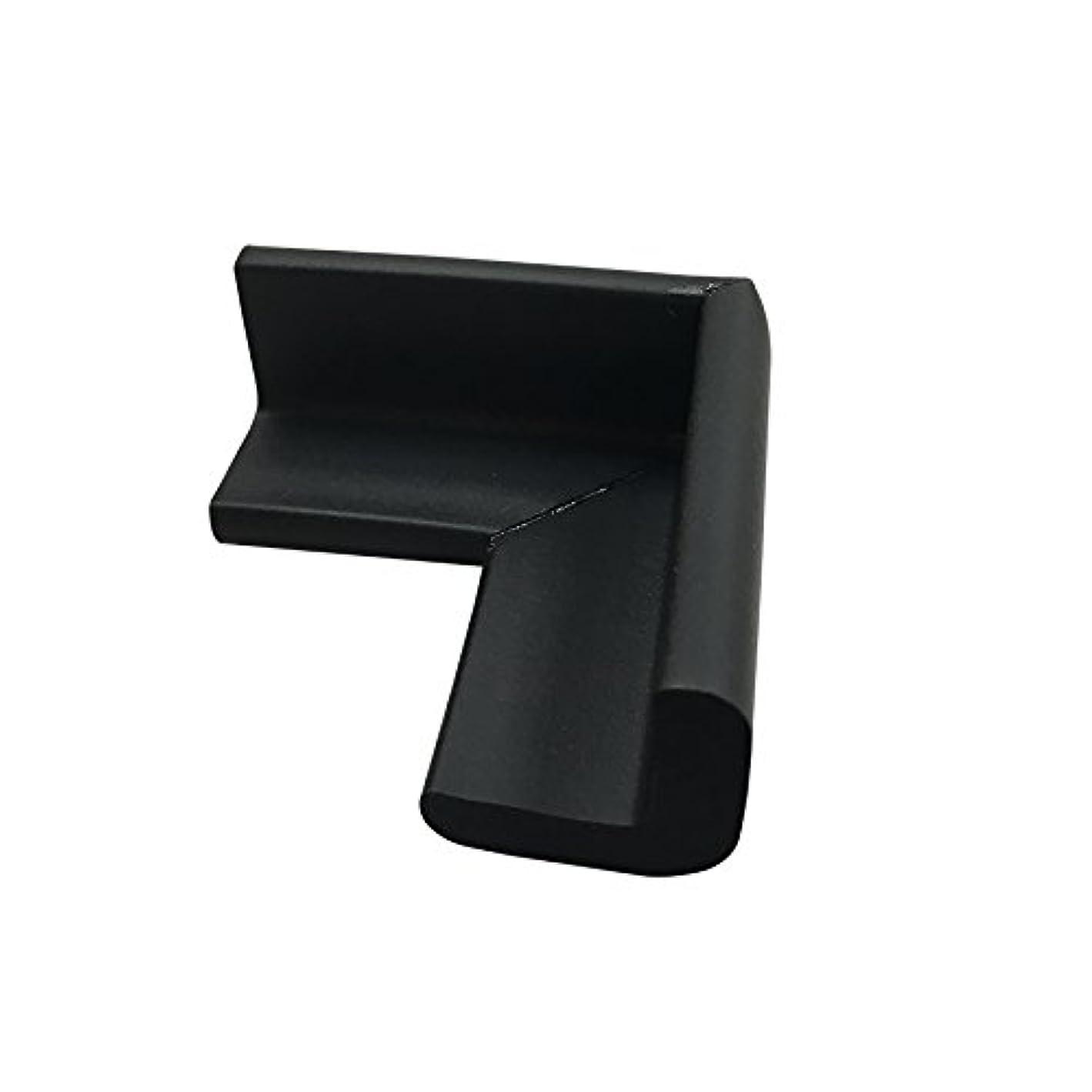 セーフラン(SAFERUN) 安全クッション(L字コーナー型) 細 ブラック 22×22×50mm NBR 4個セット