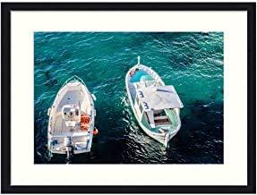 No Marca Boats Ocean Adventure Marine Sea Travel - Cuadro Enmarcado para Pared, diseño de Barcos