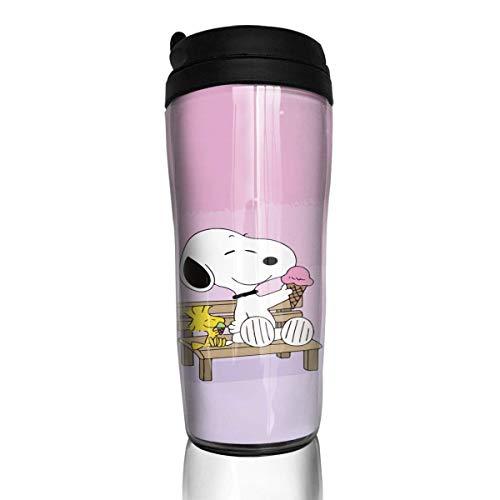 Snoopy Cool Kaffeebecher Travel Mug Thermobecher Isolierbecher Doppelwandig Isolierung Kaffeetasse