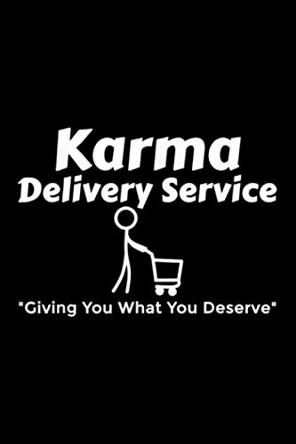 Notebook Planner Karma Delivery Service Get What Your Deserve Shopping Cart: 6x9 inch, High Performance, Menu, Simple, Personal Budget, Cute, 114 Pages, Management