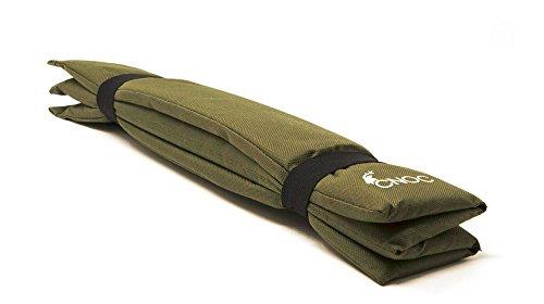 cnoc Premium Iso Sitzkissen faltbar | Outdoor Kissen - schützt beim Sitzen vor Nässe, Kälte & Schmutz - ideales Klappkissen für Wandern, Camping, Stadion & Rastplätze - 41x31x1cm - 60 gr