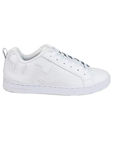 DC Women's Court Graffik Skate Shoe, White/White/White, 5