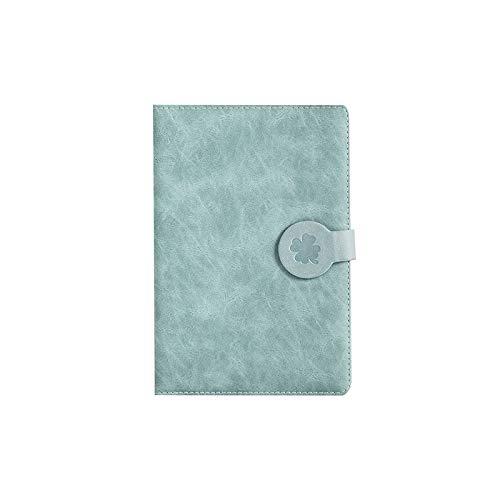 diario Hebilla magnética simple pintada retro del borde Este manual Cuaderno de la superficie dura Engrosamiento creativo Cuaderno del estudiante Cuaderno del cuaderno diario de ( Color : Green )