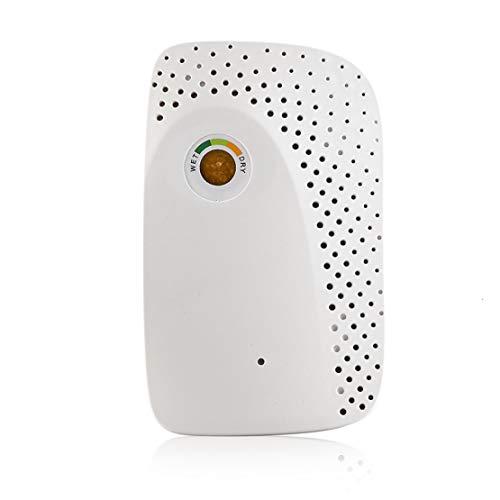 JLDN Mini Deshumidificador Eléctrico Silencioso, Filtro de Aire Secador Purificador con Ionizador para Armarios Baño Cocina,White