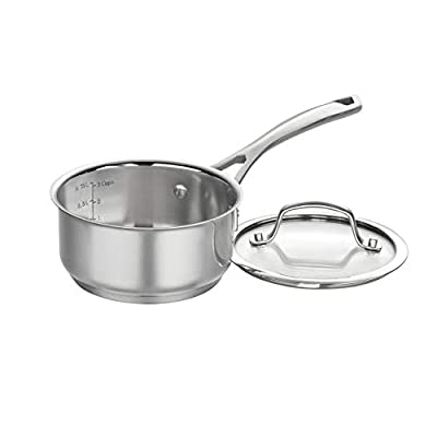 CUISINART 9519-14 Forever Collection Saucepan and Lid, 1 Qt, Stainless Steel