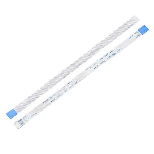 YeVhear - Cable plano flexible de 12 pines de 0,5 mm, 150 mm, FPC FFC, cable de cinta flexible para TV LCD, reproductor de DVD, audio de coche, portátil, 10 unidades (tipo B)
