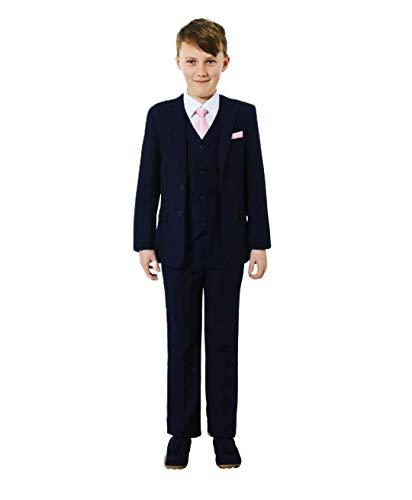 Y & Z Boy Wedding Formal Christening Page Boy Navy Suit Slim Fit Suit 1-14 Year (10-11 Year)