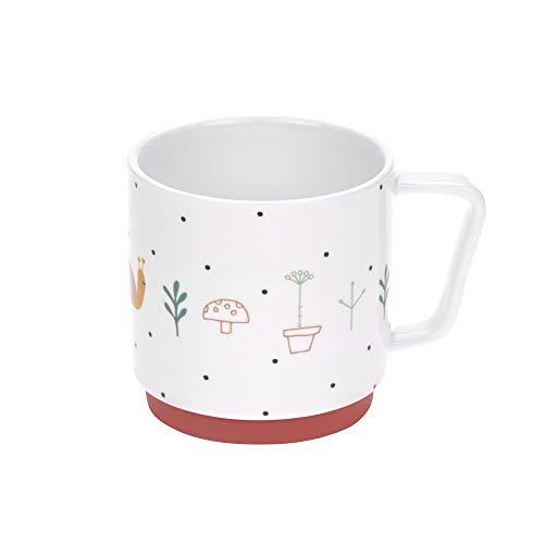 LÄSSIG Tasse Porzellan Kindertasse Trinkbecher mit Silikonring rutschfest Kindergeschirr/ Garden Explorer girls