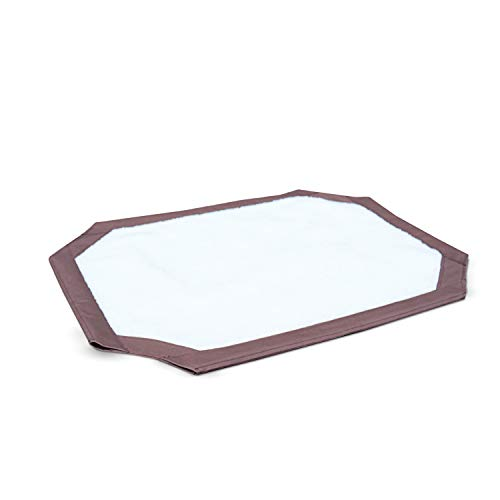 K&H Pet Products Self-Warming Pet Cot Cover Replacement (Cot Sold Separately) - Chocolate/Fleece, Medium 25 X 32 Inches