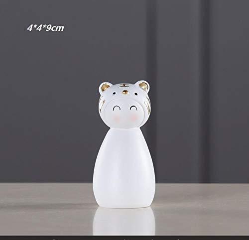 hacpigbb Lindo Panda Estatua Animal Artesanía Decoración del Hogar Regalo Pintado A Mano Resina Adecuado para El Dormitorio Sala De Estudio Sala De Estar - Tigre