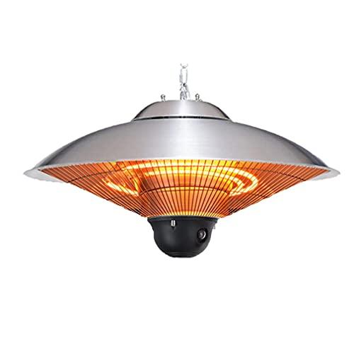 Lampada riscaldante a Sospensione elettrica alogena in Alluminio con Montaggio a...