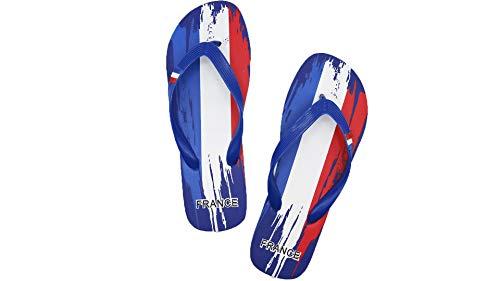Mapleaf Flag Chanclas Mujeres Hombres Sandalias de Playa Baratas Flip Goma Dedo Piscina Chanclas Summer Flop Rider Zapatos Levis para Zapatillas de Cuero Hombres Chanclas Francia Azul tamaño 43