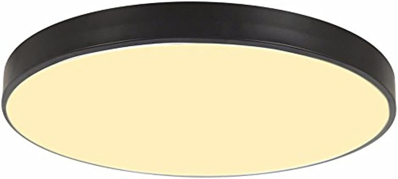 Deckenlampe Runde Deckenleuchte LED Wohnzimmer Schlafzimmer Deckenleuchte Bügeleisen Deckenleuchte Moderne Einfache Deckenleuchte (Farbe   Schwarz, Gre   40CM Warm Light)