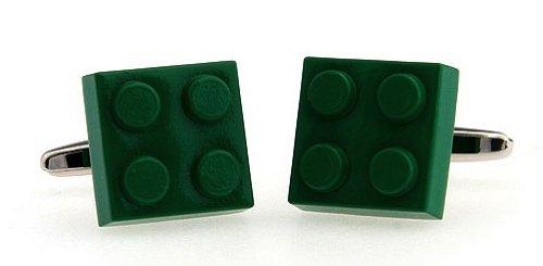 Gemelolandia - Gemelos ficha lego cuadrado verde de forma cuadrada, color verde