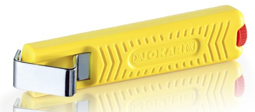 Jokari 10162 Standard Version Secura Cable Stripping Knife for All Standard Round Cables, No. 16, 13.2cm L x 2.9cm W x 3cm H