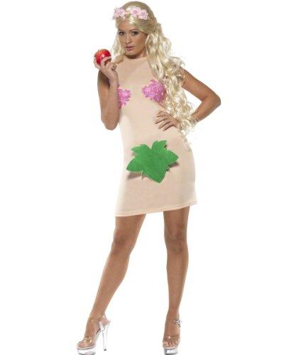 Eva Kostüm für Damen Evakostüm Garten Eden nackt Schöpfung Paradies Kleid Paradieskleid Gr. 36/38 (S), 40/42 (M), Größe:M
