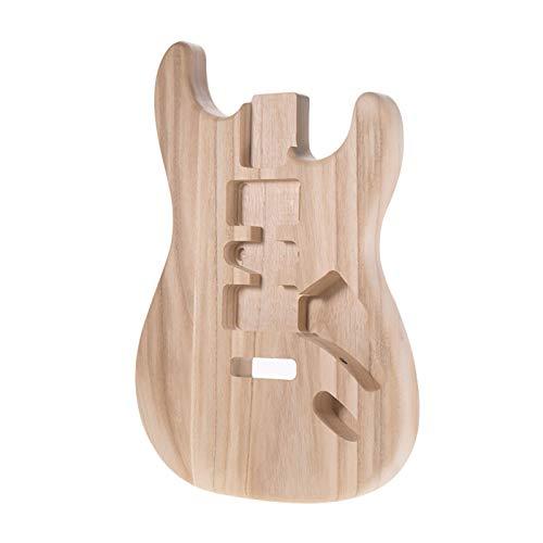 pedkit ST01-TM Unfinished Handcrafted Guitar Body Candlenut Wood Guitarra eléctrica Body Guitar Barrel Repuestos
