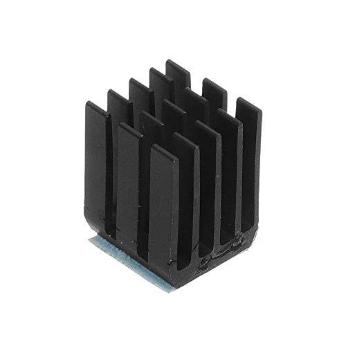 ZJF Componentes de la computadora Accesorios eléctrico 1 2PCS Negro TMC2100 Stepper Motor Conductor de enfriamiento del disipador de Calor con Pegamento Trasero para la Impresora 3D