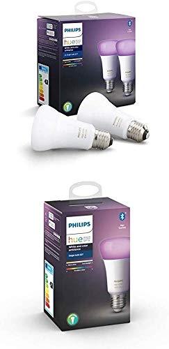 Philips Hue 3 Ampoules LED Connectées White & Color Ambiance E27 Compatible...