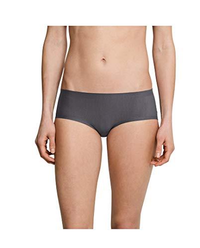 Schiesser Damen Panty Invisible Cotton 3er Pack, Größe:40, Farbe:Grapihte (207)