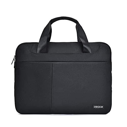 OSOCE Laptop Sleeve Case Slim Spill-Resistant Handbag for Most Popular 14.1 inch-15.6 inch Notebooks, Black