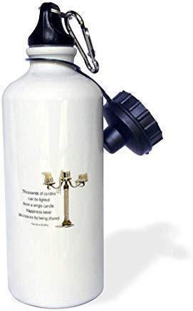 Quotes Wisdom Candelabro de metal, extremos de vela y una cita de Buda sobre la felicidad botella de agua de aluminio para deportes, senderismo, gimnasio, escuela, camping, botella de agua para hombres, mujeres, niños