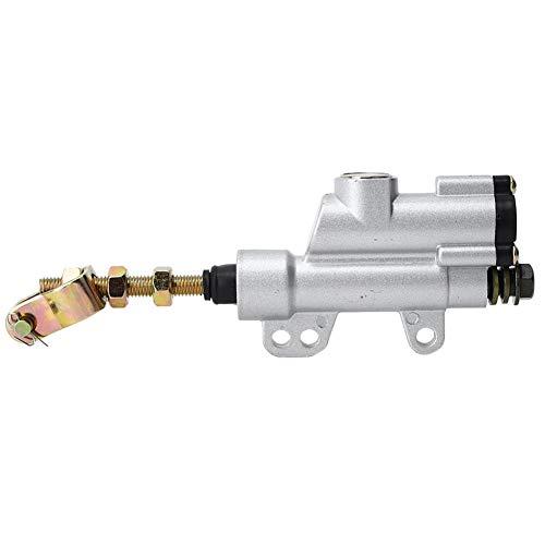 Keenso Universal Motorrad Hinterhydraulik Hauptbremszylinderpumpe Faltender Hinterer Fuß Bremszylinder(Silber)