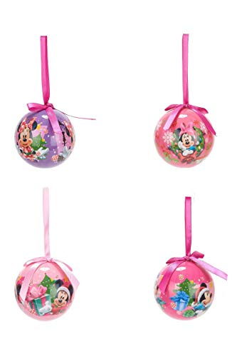 Set Di 4 Palle Di Natale Disney Minnie Multicolor