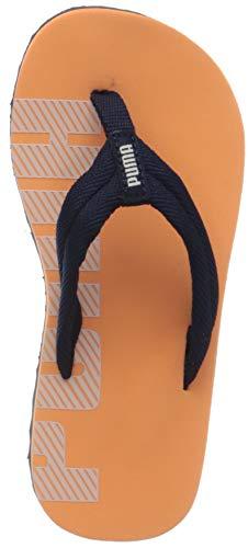 PUMA Unisex-Kinder Epic Flip V2 Ps Zapatos de Playa y Piscina, Orange (Cantaloupe-Peacoat), 29 EU