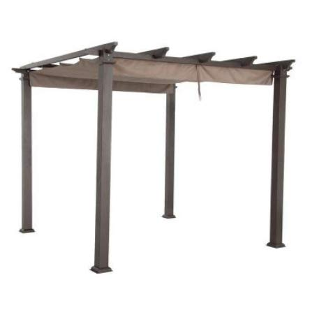 Garden Winds Replacement Canopy Top Cover for Home Depot Hampton Bay GFM00467F Pergola - Standard 350 Fabric