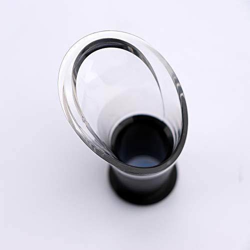 Vacu Vin Wine Saver Concerto Gift Set - Black | 1 x Vacuum Pump + 2 x Vacuum Wine Stopper + 2 x Wine Server Crystal