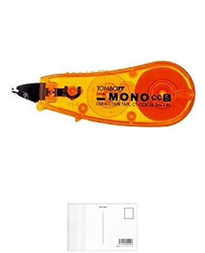 トンボ鉛筆 修正テープ CC5C CT-CC5C50 オレンジ 【 3セット】 + 画材屋ドットコム ポストカードA